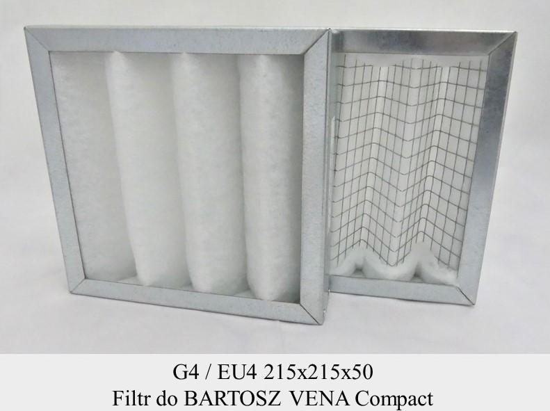 Filtry G4 do BARTOSZ VENA Compact (215x215x50)