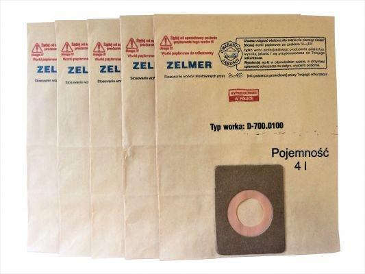 Worki do odkurzacza ZELMER typ 700 - 5 szt.